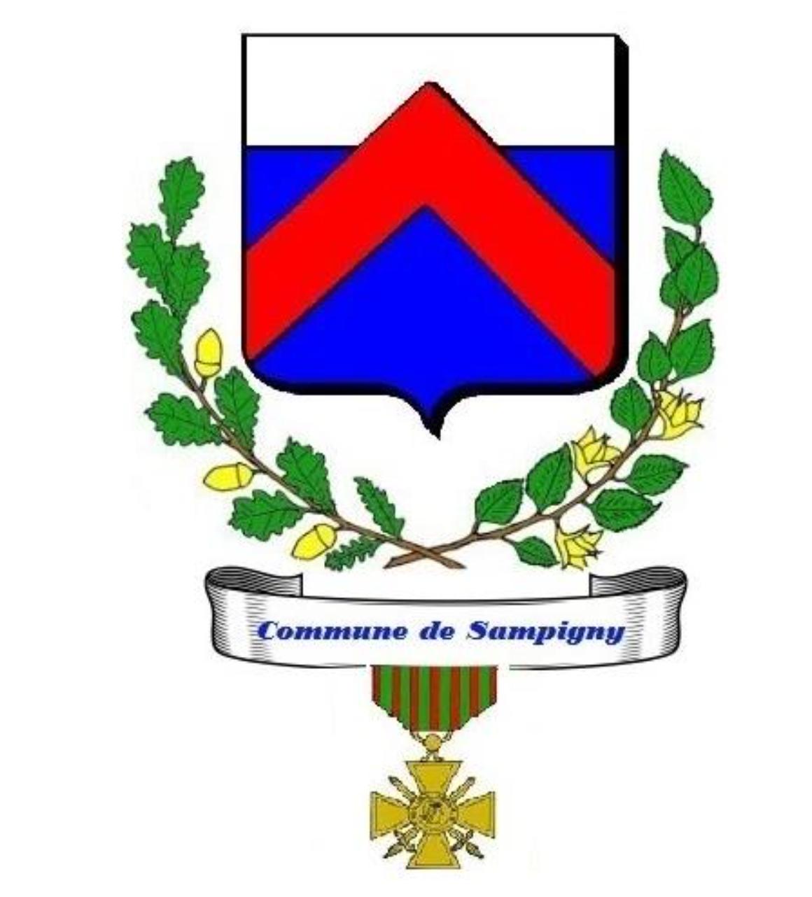 blason de la commune de Sampigny